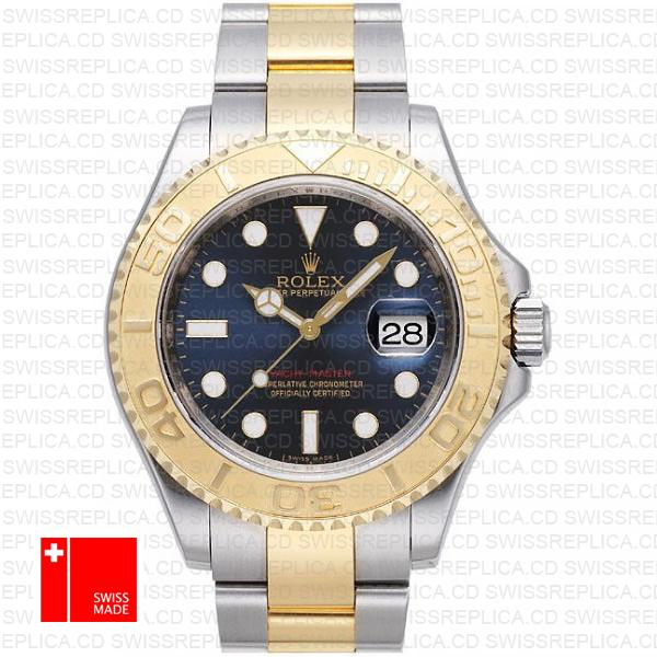 Rolex Yacht-Master 40mm Two-Tone 18k Gold & Blue Dial Replica Watch