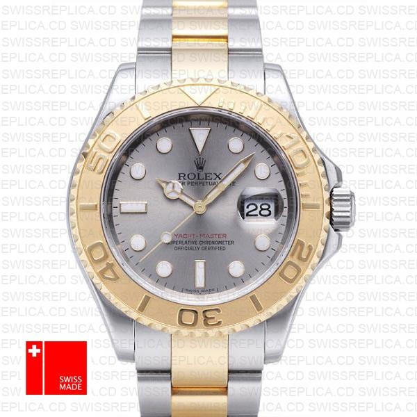 Rolex Yacht-Master 16623 Two-Tone 18k Gold & Slate Grey Dial Watch