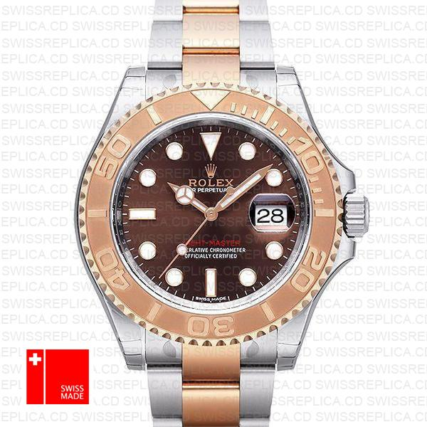 Rolex Yacht-Master 40mm 18k Rose Gold & Chocolate Dial Replica Watch