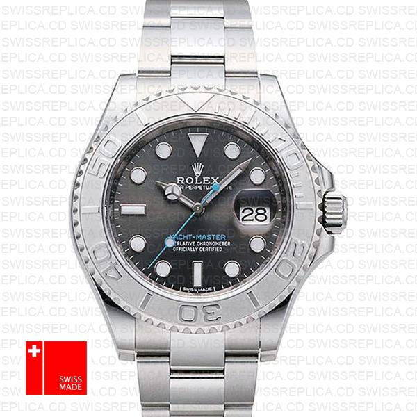 Rolex Yacht-Master Dark Rhodium Dial & 40mm 904L Steel Replica Watch