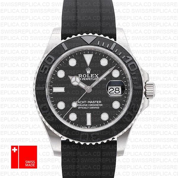 Rolex Yacht-Master 42mm: 18k White Gold/904l Steel Swiss Replica Watch
