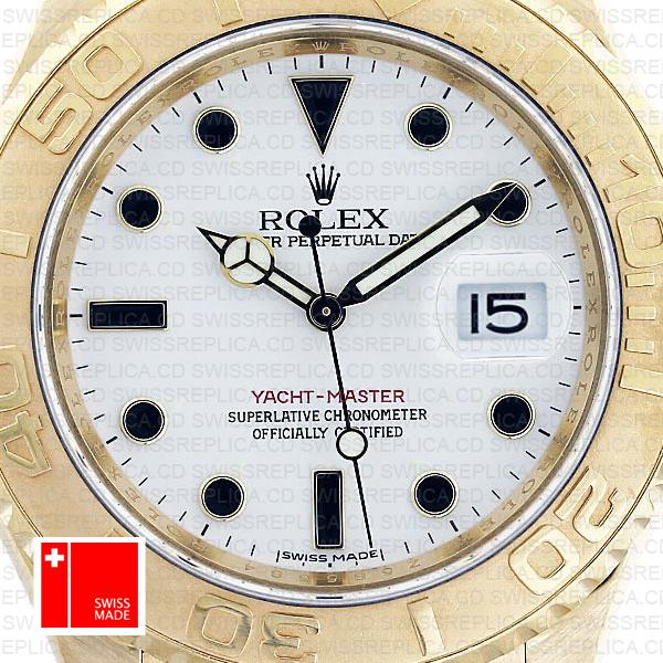 Rolex Yacht Master Gold White 40mm 16628