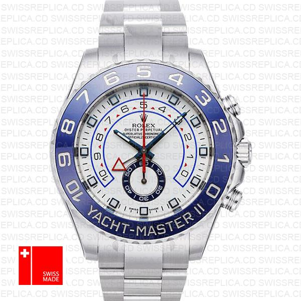 Rolex Yacht Master II White Dial Blue Bezel (116680) Swiss Replica Watch