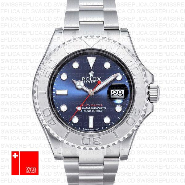 Rolex Yacht-Master Blue Dial & 904L Steel | Rolex 116622 Replica Watch