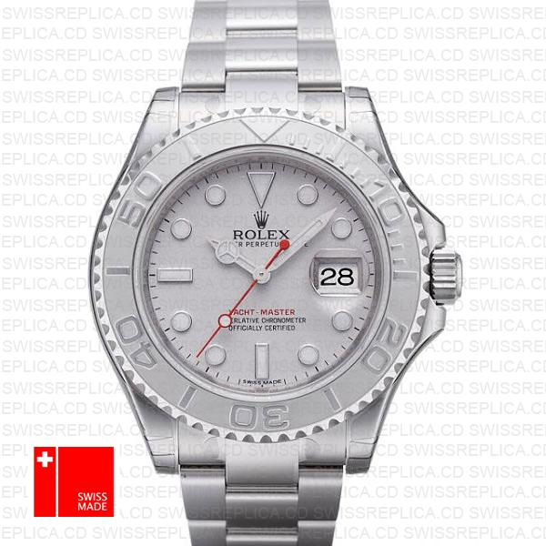 Buy Rolex Yacht-Master 40mm 904L Steel & Platinum Bezel Replica Watch
