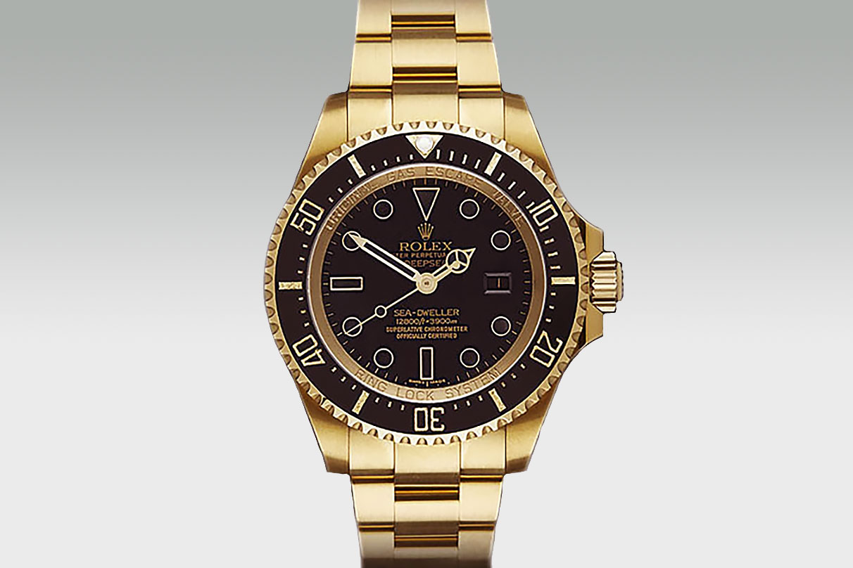 Gold Deepsea Swiss Replica Rolex Watches